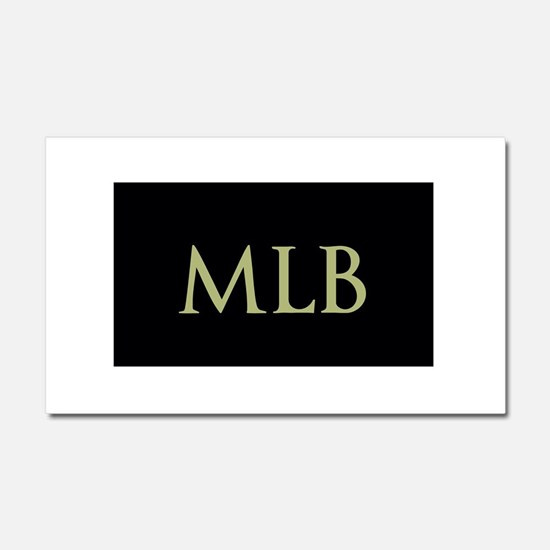 Monogram in Large Letters Car Magnet 20 x 12