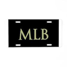 Monogram in Large Letters Aluminum License Plate
