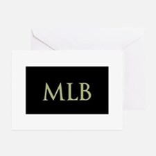 Monogram in Large Letters Greeting Cards