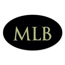 Monogram in Large Letters Decal