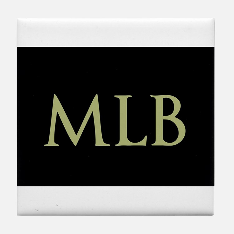 Monogram in Large Letters Tile Coaster