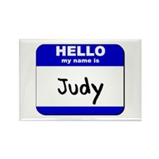 hello my name is judy Rectangle Magnet