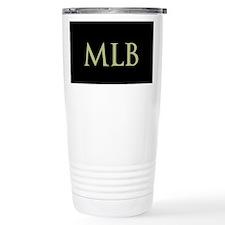 Monogram in Large Letters Travel Mug