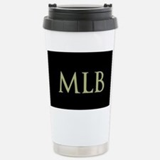 Monogram in Large Letters Travel Mug