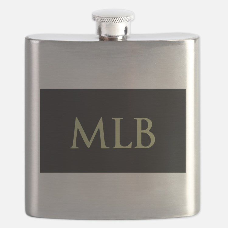 Monogram in Large Letters Flask