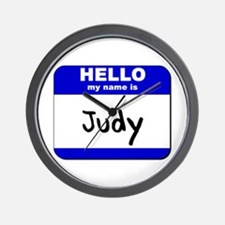 hello my name is judy  Wall Clock