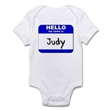 hello my name is judy  Onesie