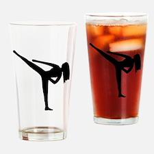 Karate Silhouette Drinking Glass