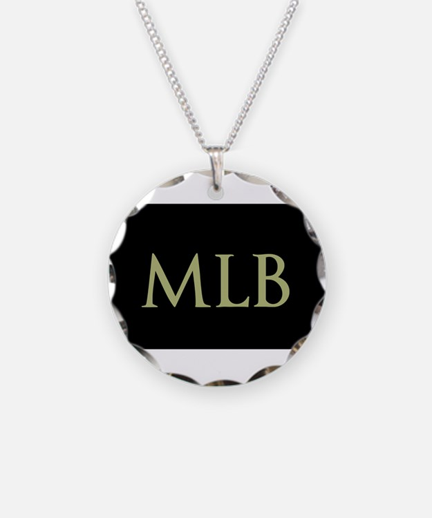 Monogram in Large Letters Necklace