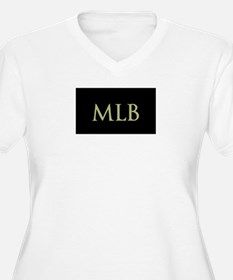 Monogram in Large Letters Plus Size T-Shirt