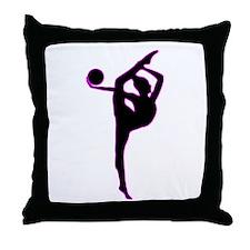Rhythmic Gymnastics Silhouette Throw Pillow