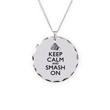 Badminton Keep Calm And Smash On Necklace
