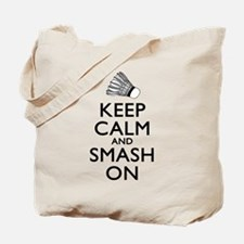 Badminton Keep Calm And Smash On Tote Bag