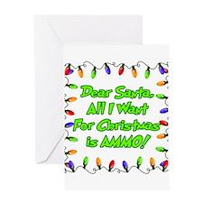 Santa Christmas Ammo Greeting Cards