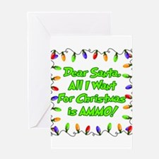 Santa Christmas Ammo Greeting Cards