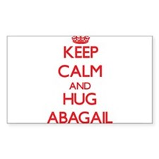 Keep Calm and Hug Abagail Decal