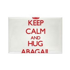 Keep Calm and Hug Abagail Magnets