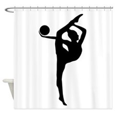 Rhythmic Gymnastics Silhouette Shower Curtain