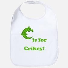 C is for Crikey! Bib