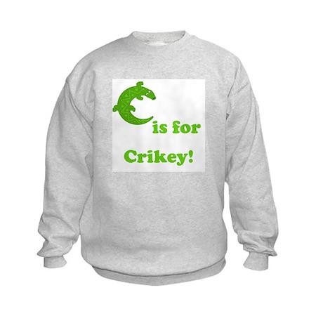 C is for Crikey! Kids Sweatshirt