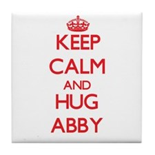 Keep Calm and Hug Abby Tile Coaster