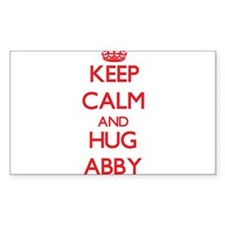 Keep Calm and Hug Abby Decal