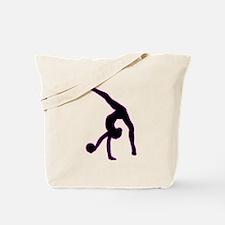 Rhythmic Gymnastics Silhouette Tote Bag