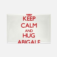 Keep Calm and Hug Abigale Magnets