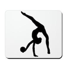 Rhythmic Gymnastics Silhouette Mousepad