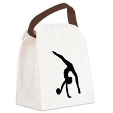 Rhythmic Gymnastics Silhouette Canvas Lunch Bag