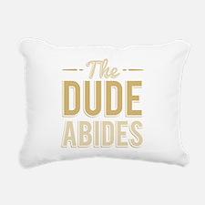The Dude Abides Rectangular Canvas Pillow