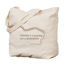 sobriety is a journey Tote Bag