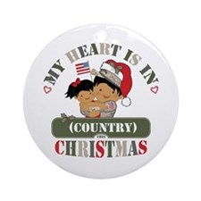 Christmas Soldier Dad/Mom Ornament (Round)