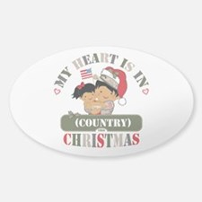 Christmas Soldier Dad/Mom Sticker (Oval)