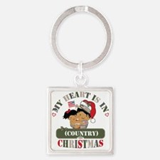 Christmas Soldier Dad/Mom Square Keychain