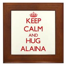 Keep Calm and Hug Alaina Framed Tile