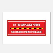 I'm the Compliance Person Postcards (Package of 8)