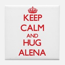 Keep Calm and Hug Alena Tile Coaster