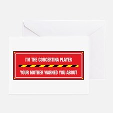 I'm the Concertina Player Greeting Cards (Package