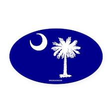 XX Blue Oval Car Magnet