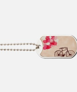 Heart-Shaped Balloons and Bicycle  Dog Tags