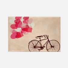 Heart-Shaped Balloons and Bicycle Rectangle Magnet