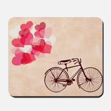 Heart-Shaped Balloons and Bicycle  Mousepad