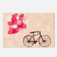 Heart-Shaped Balloons and Postcards (Package of 8)