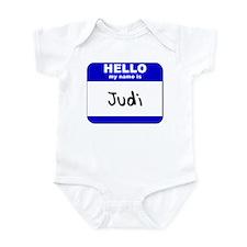 hello my name is judi  Infant Bodysuit