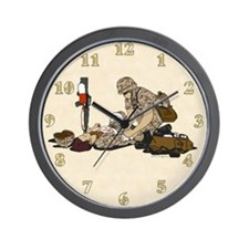 OIF Soldier Medic Support our Troops Wall Clock