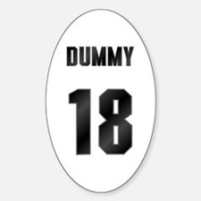 18 Dummy Oval Decal
