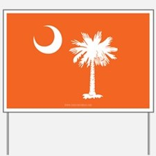 SC Palmetto Moon State Flag Orange Yard Sign