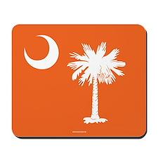 SC Palmetto Moon State Flag Orange Mousepad