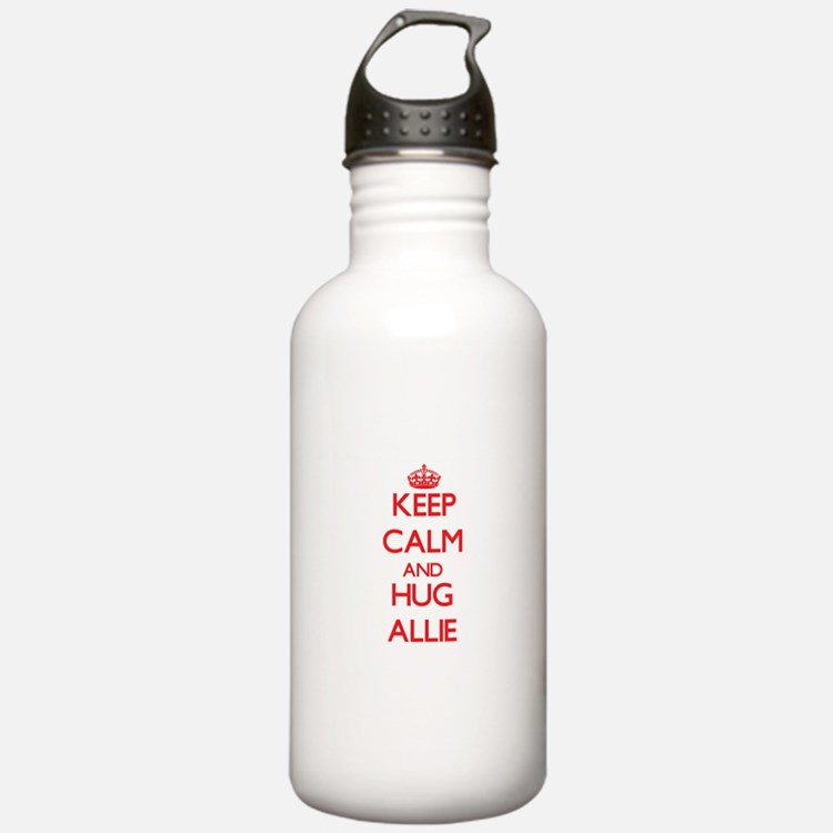 Keep Calm and Hug Allie Water Bottle